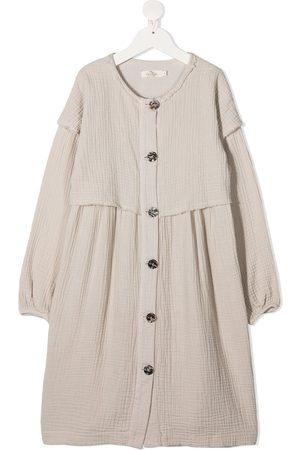 Le pandorine Buttoned midi dress