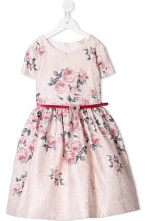 MONNALISA DRESS VINTAGE ROSES PRINT