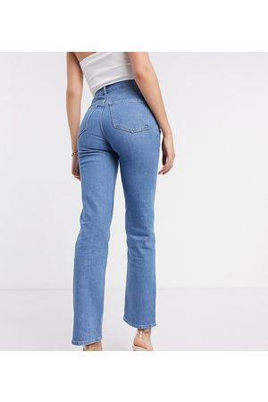 ASOS ASOS DESIGN Tall high rise 'slim' stretch straight leg jean in brightwash