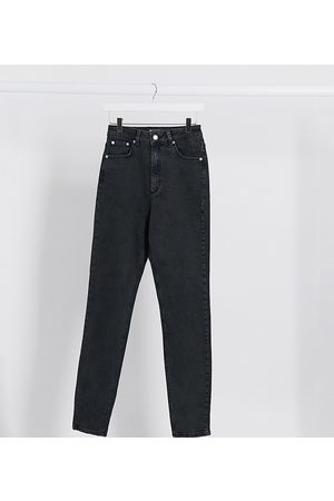 ASOS ASOS DESIGN Tall hourglass high rise farleigh 'slim' mom jeans in washed