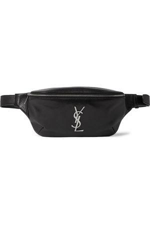 Saint Laurent Logo-Appliquéd Leather Belt Bag