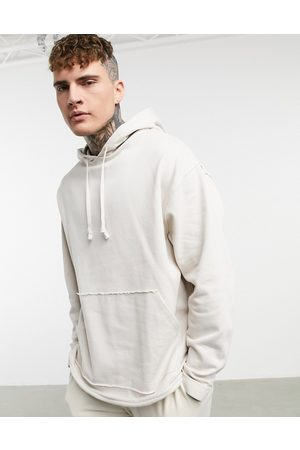 ASOS Men Hoodies - Organic oversized hoodie with curved hem in