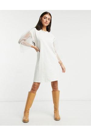 River Island Mesh mini t-shirt dress in