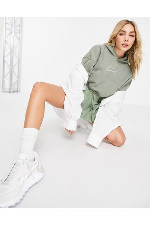 The Couture Club Signature cropped hoody in khaki