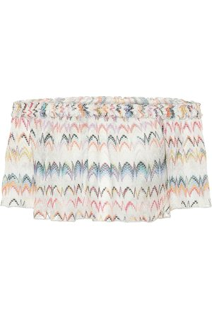 Missoni Zig-zag knit off-shoulder crop top