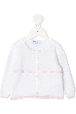SIOLA Purl-knit two-tone cardigan