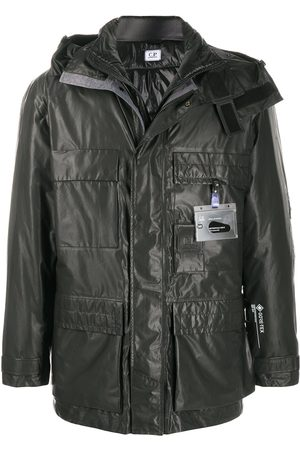C.P. Company Raincoat with logo tag detail