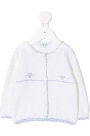 SIOLA Embroidered buttoned cardigan