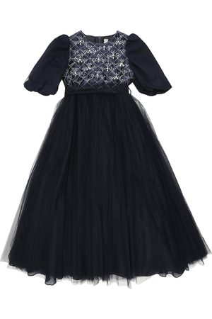 Il gufo Embellished tulle dress