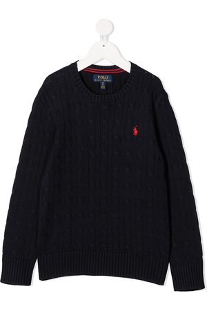 Ralph Lauren Logo-embroidered cable-knit jumper