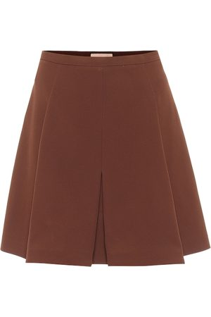 Plan C Box-pleated high-rise miniskirt