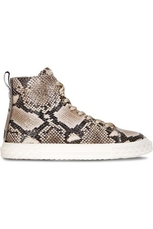 Giuseppe Zanotti Snakeskin-effect high-top trainers