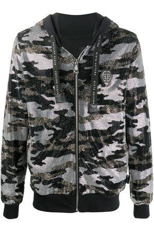 Philipp Plein Camouflage zip-up hoodie