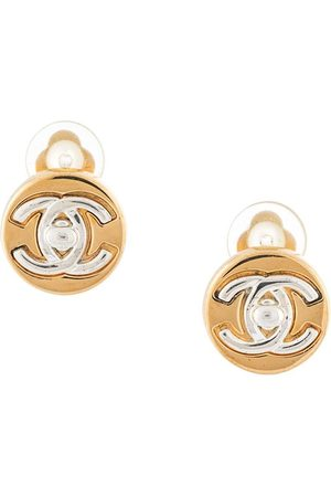 CHANEL 1997 CC turn-lock earrings