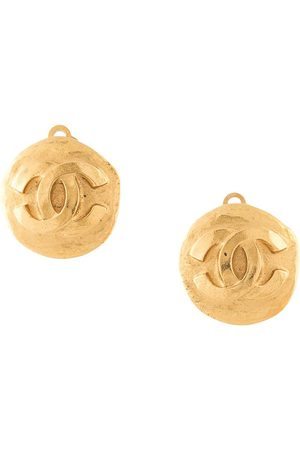 CHANEL 1995 CC button clip-on earrings