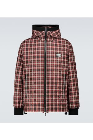 Burberry Diamond quilted checked jacket