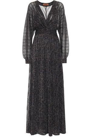 Missoni Stretch-silk lamé maxi dress
