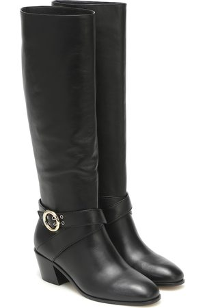 Jimmy Choo Beca 45 leather knee-high boots