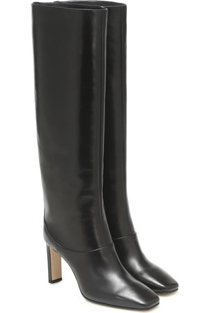 Jimmy Choo Mahesa 85 leather knee-high boots