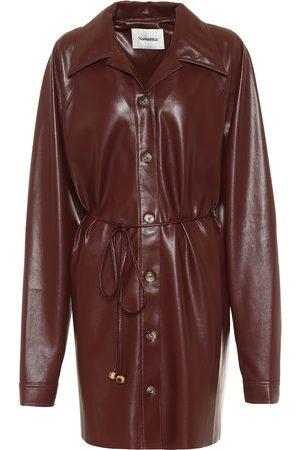 Nanushka Joy faux leather shirt dress