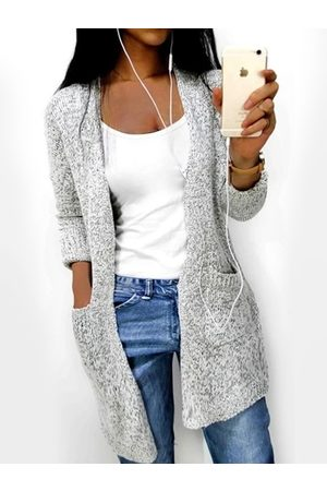 YOINS Women Long Sleeve - Side Pockets Long Sleeves Cardigan