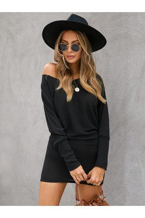 YOINS One Shoulder Dolman Sleeve Knitted Dress