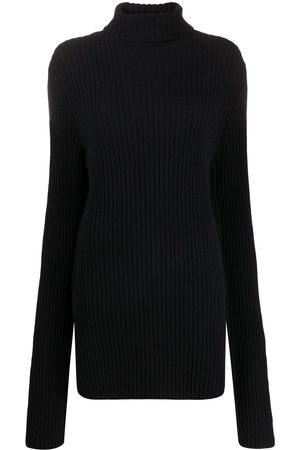ANN DEMEULEMEESTER High neck knitted jumper