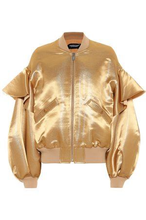 UNDERCOVER Metallic satin bomber jacket