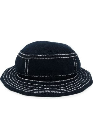 Barrie Contrast-stitch bucket hat