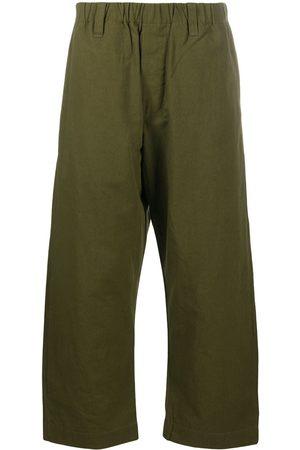 Evan Kinori Wide-leg cropped trousers