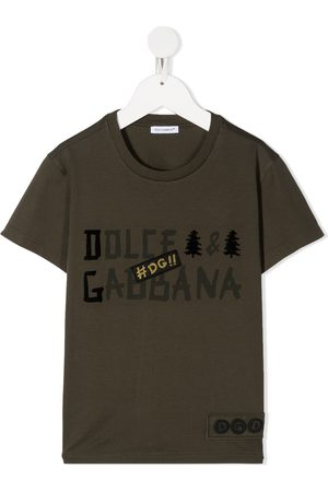 Dolce & Gabbana Logo print patch detail T-shirt