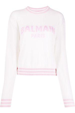 Balmain Logo jacquard jumper