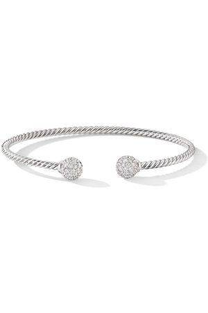 David Yurman 18kt white gold 7mm Solari diamond cuff