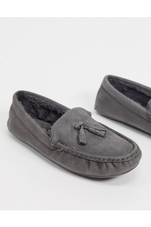 ASOS Moccasin slipper in with faux fur lining