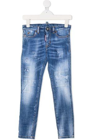 Dsquared2 Kids Contrast stitch skinny jeans