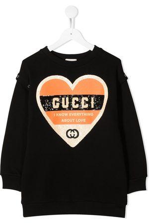 Gucci Heart sequinned sweatshirt