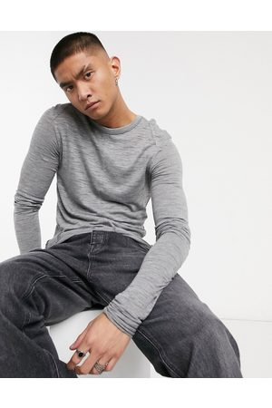 ASOS Muscle longline super long sleeve t-shirt in textured fabric