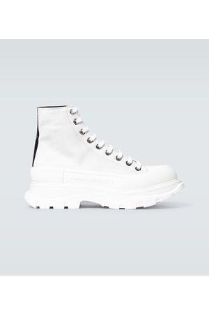Alexander McQueen Tread Slick suede platform sneakers