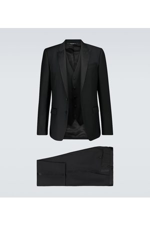 Dolce & Gabbana Three-piece wool and silk tuxedo