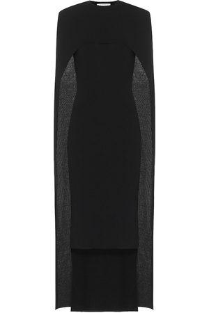 Givenchy Wool cape midi dress