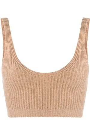 Cashmere In Love Ribbed knit cropped vest