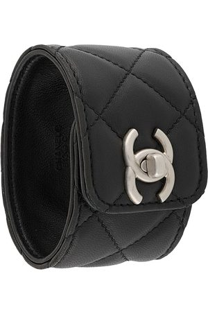 CHANEL CC diamond-quilted bracelet
