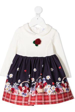 MONNALISA Flower basket print skater dress