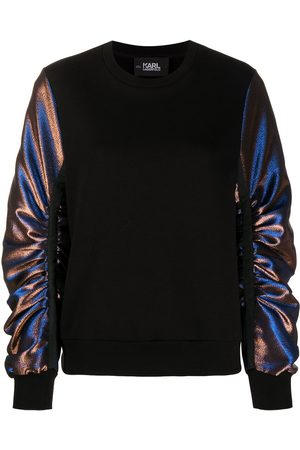 Karl Lagerfeld Lurex-sleeve sweatshirt