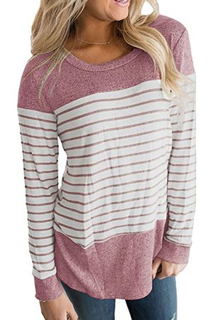 YOINS Striped Round Neck Long Sleeves Tee