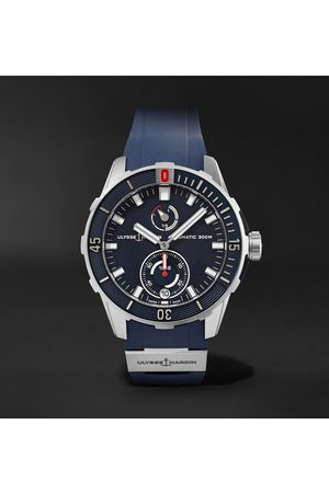 Ulysse Nardin Men Watches - Diver Chronometer Automatic 42mm Stainless Steel and Suede Watch, Ref. No. 1183-170-3/93