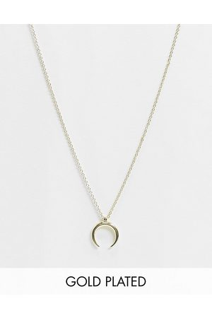 Pieces 18K plated wishbone necklace in