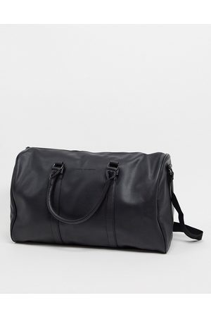 French Connection Faux leather weekend holdall bag in