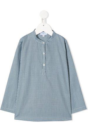 SIOLA Long-sleeved micro print shirt