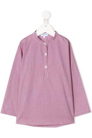SIOLA Long-sleeved micro-print shirt